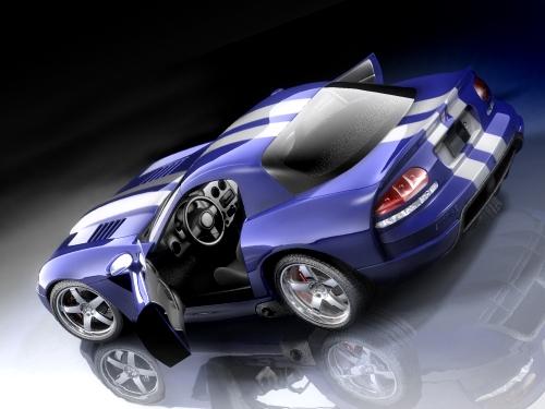 Dodge Viper SRT-10 coupe 3D Model
