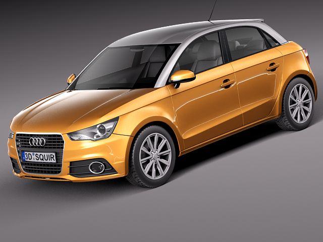 Audi A1 Sportback 2013 3D Model