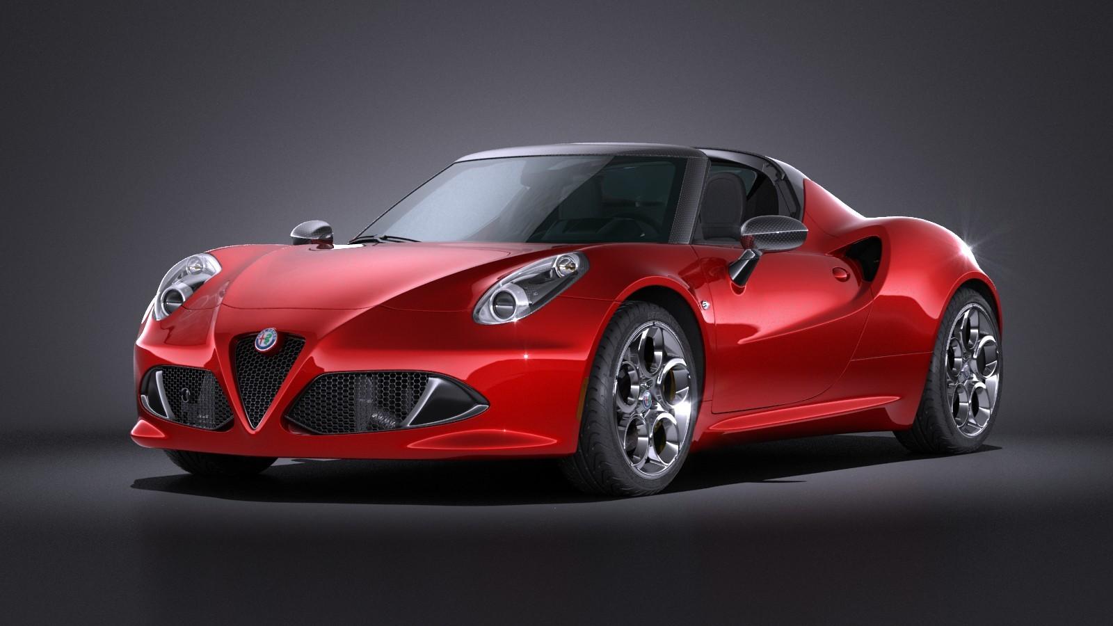 Alfa Romeo 4C Spider 2016 VRAY