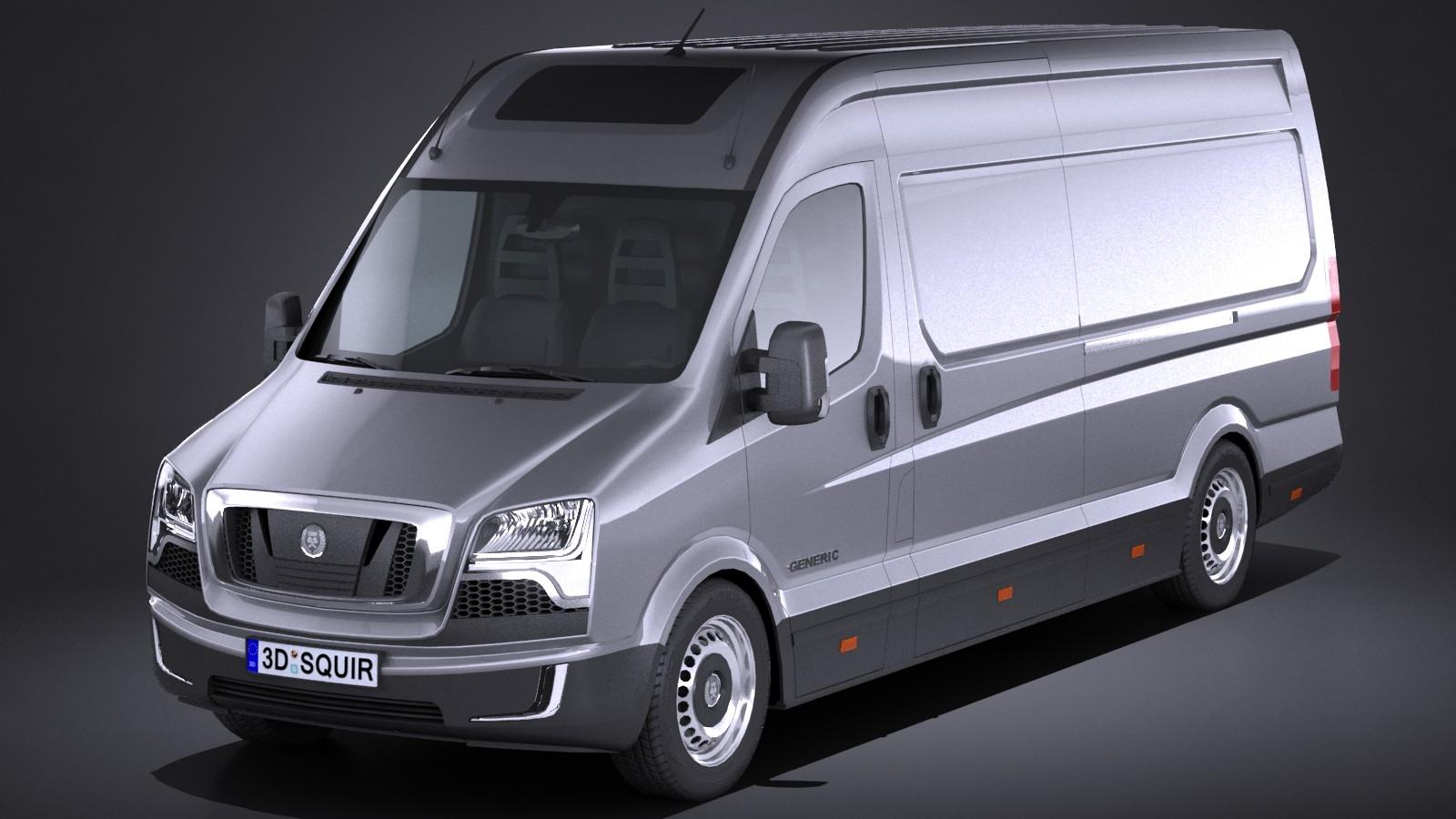 LowPoly Generic Big Van 2016