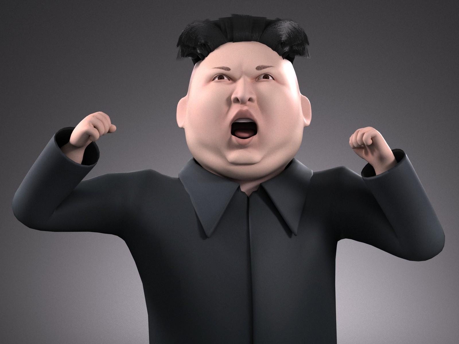 Kim Dzong Un Cartoon rigged for 3dsMax