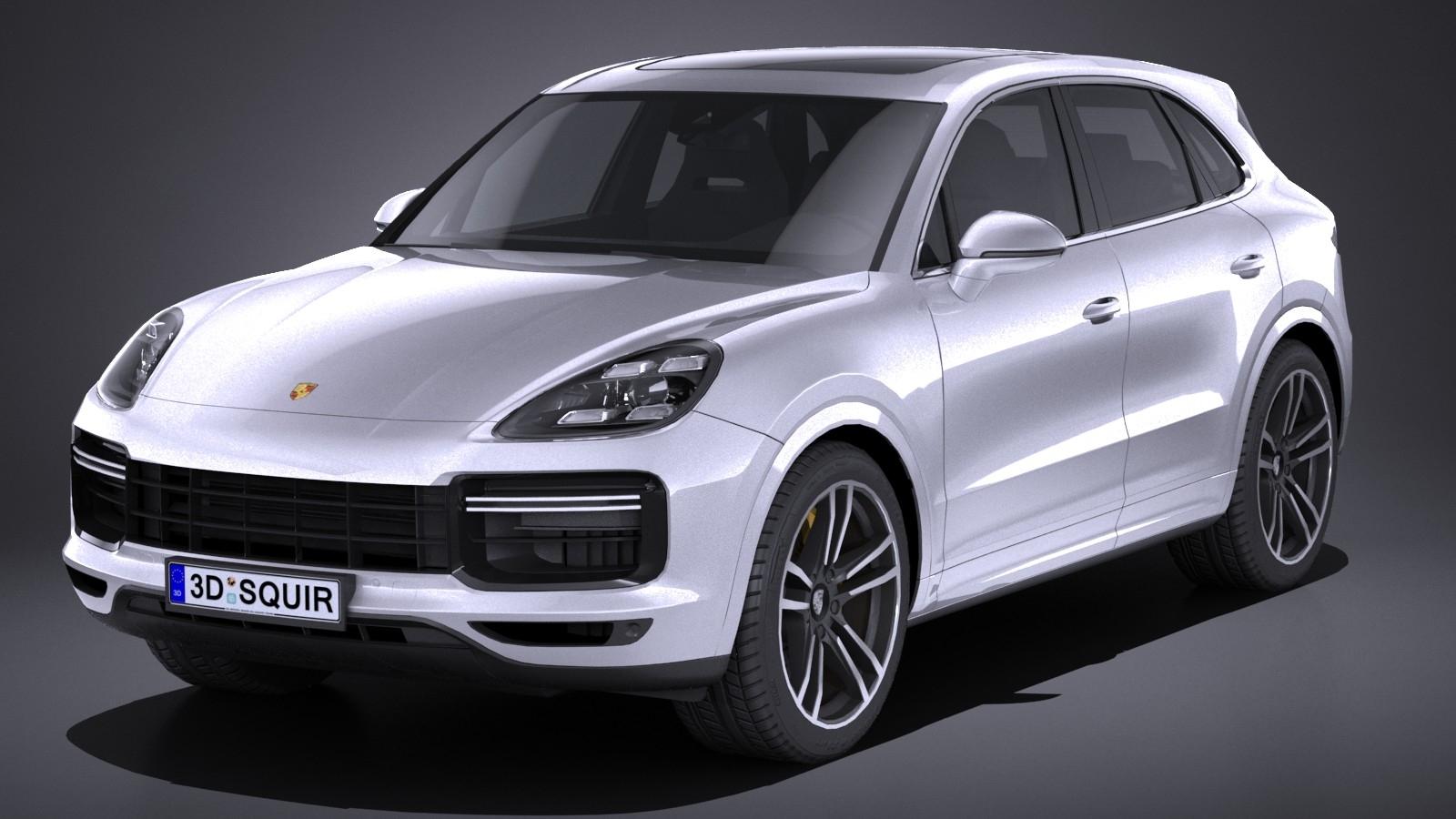 HQ LowPoly Porsche Cayenne Turbo 2018