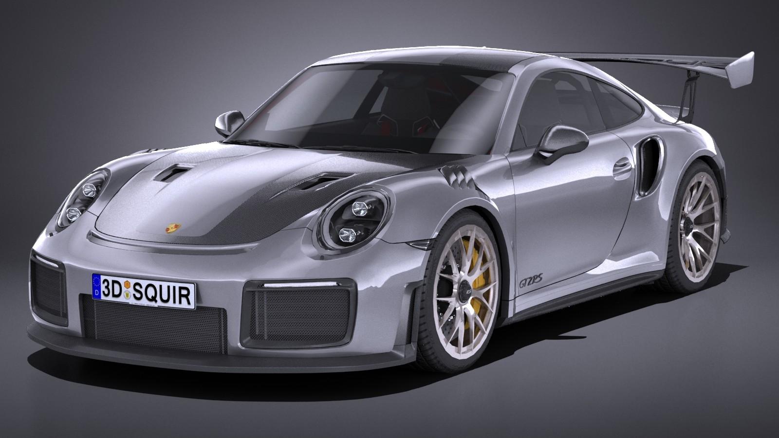HQ LowPoly Porsche GT2RS 2018