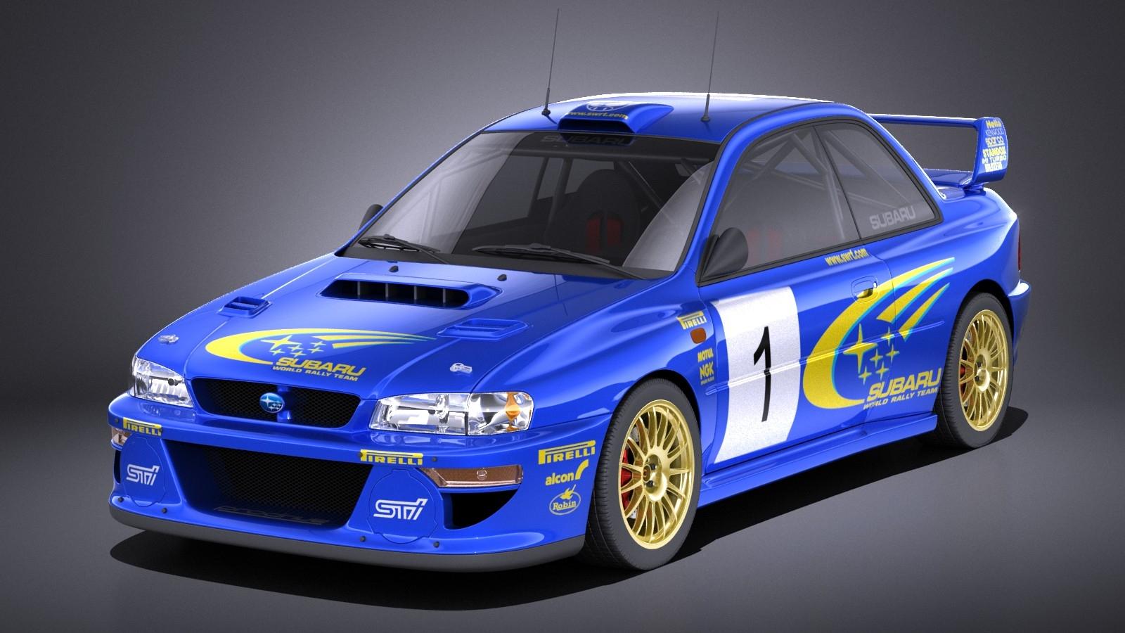 Subaru Impreza STI 22B WRC 1993-2000 VRAY
