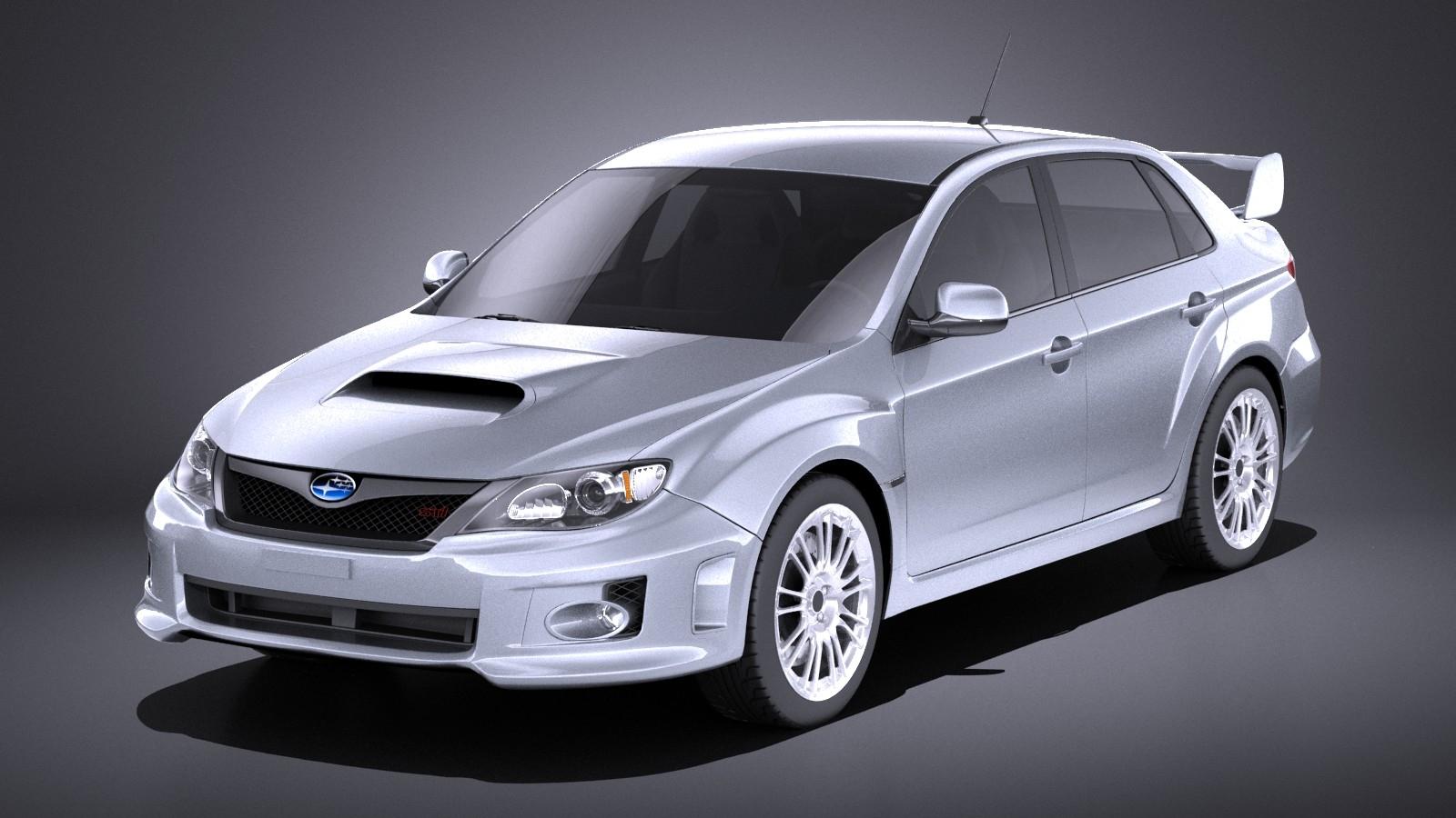 Subaru Impreza WRX STi sedan 2011 VRAY