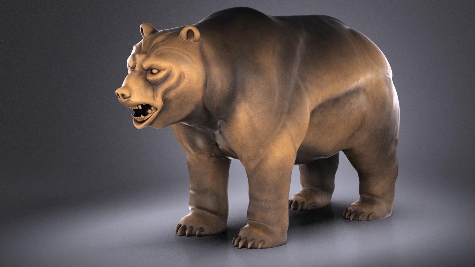 Wallstreet Bear Sculpture
